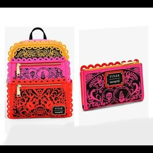 Loungefly Pixar Coco Papel Picado backpack &wallet
